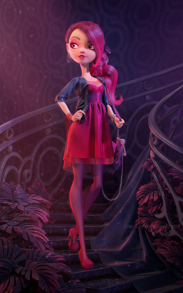 3D Character Design By Carlos Ortega Elizalde