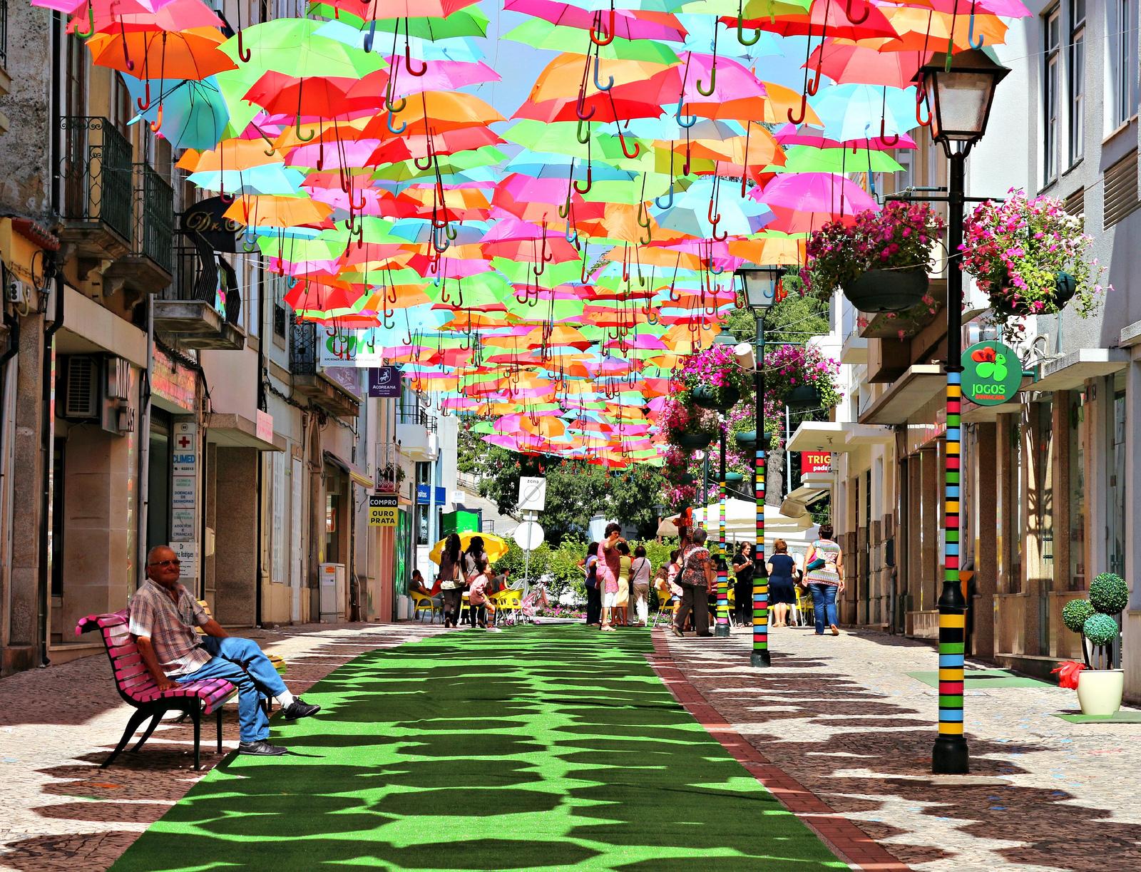 Umbrella Sky - Art Installation