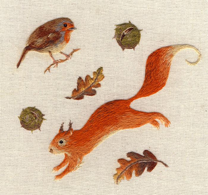 Realistic Animal Embroidery by Chloe Giordano