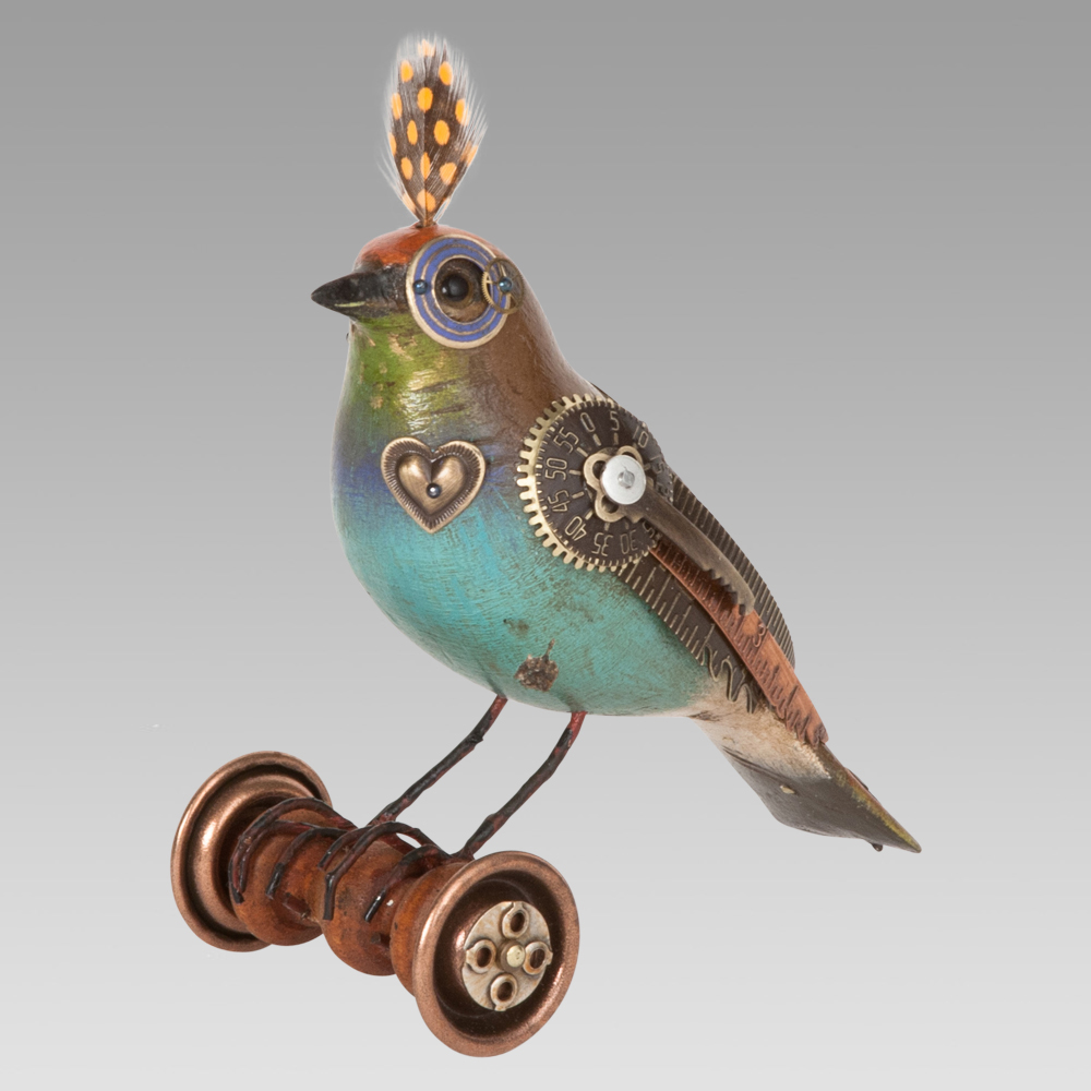 Steampunk Songbird Sculptures by Jim Mullan