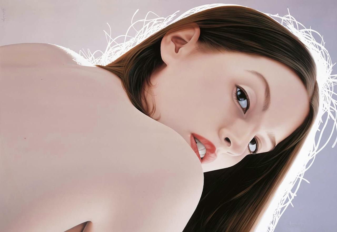 Photorealistic portraiture by Hubert de Lartigue