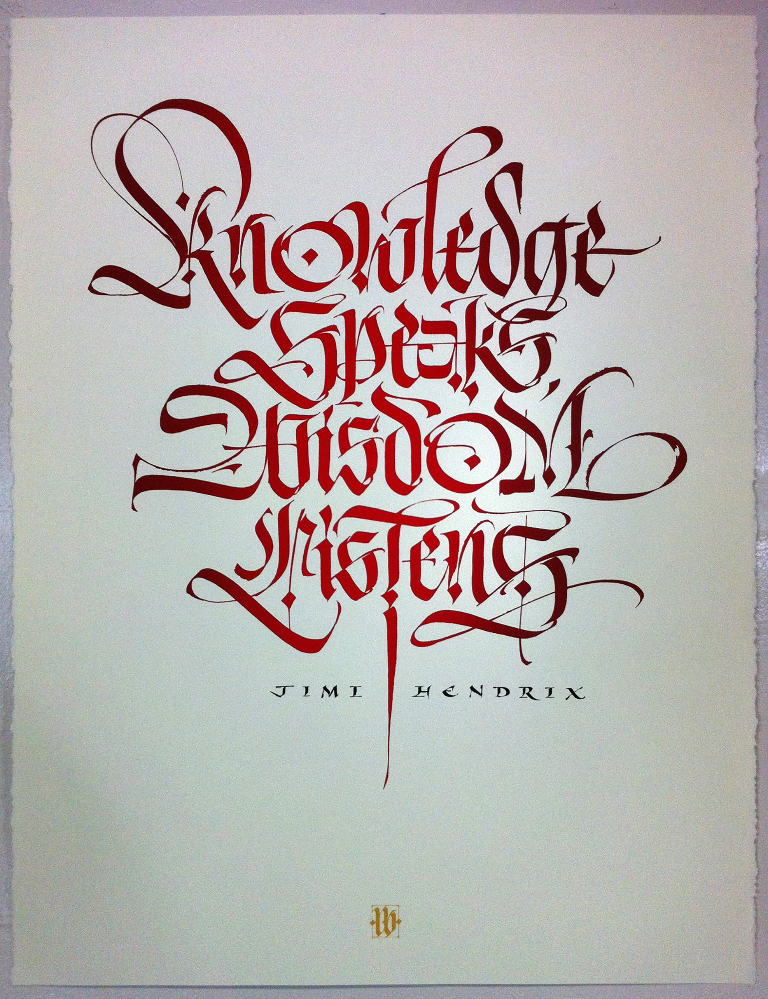 Luca barcellona bon expose museum of art and design Handwriting calligraphy