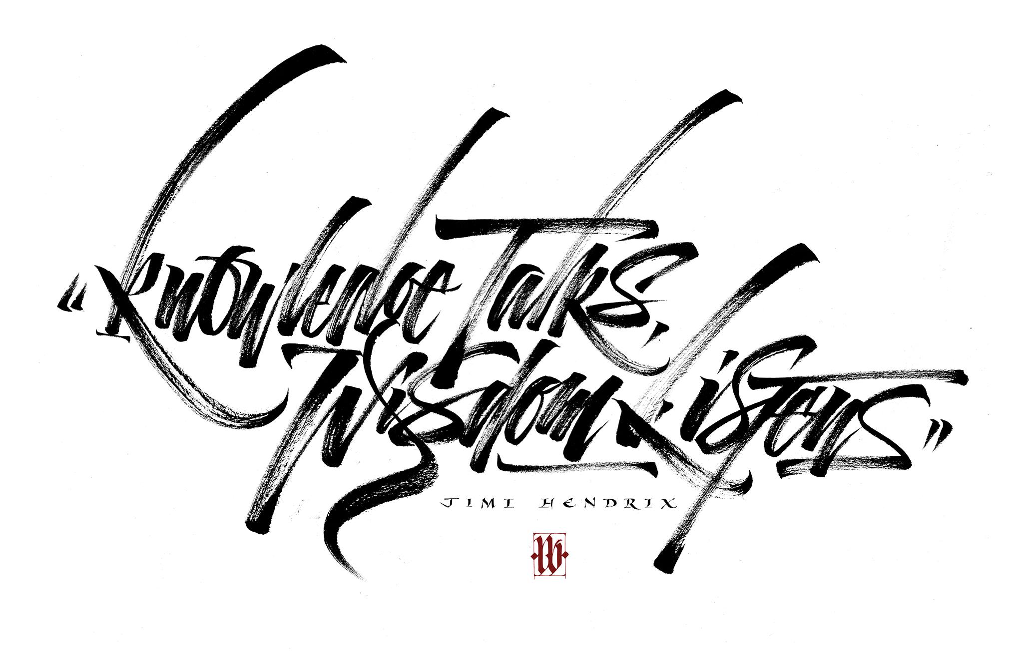 Calligraphy by Luca Barcellona